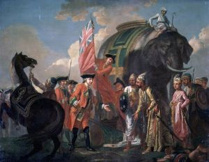 Robert Clive with Mir Jafar