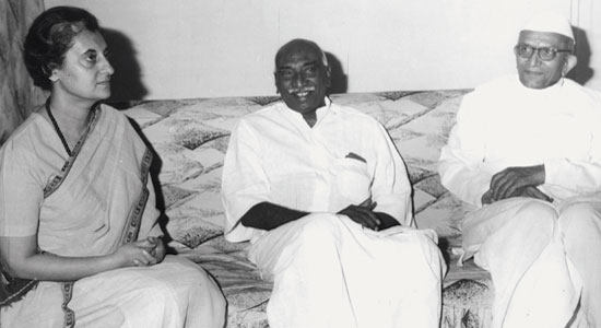 A rare photograph of Gandhi, Kamaraj and Desai together
