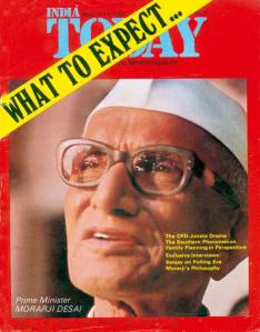 Morarji Desai becomes Prime Minister following Emergency