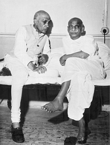 Pandit Nehru and Sardar Vallabhai Patel. Differences between the two are often made more than they actually were