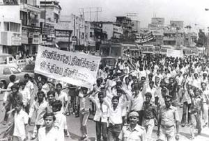 Anti-Hindi Agitations in Madras