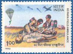 Indian 60th Parachute Field Medical Unit was sent to help in the war