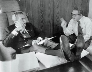 Richard Nixon (left) and Henry Kissinger, two most controversial figures of the 1970s