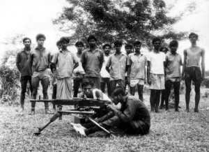 Bengali refugee youths being trained by Indian Army